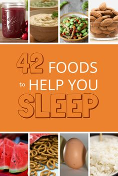 42 Foods To Help You Sleep is an article that helps you they give beneficial tips that will help you choose healthier foods that help relax you and provide a lulling sort of effect.