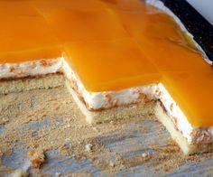 Smotanové rezy s mandarínkami • recept • bonvivani.sk High Sugar, Lebanese Recipes, Tiramisu, Smoothies, Cheesecake, Food And Drink, Cooking Recipes, Pudding, Sweets