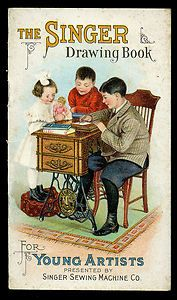 TRADE CARD #46 - SINGER SEWING MACHINE DRAWING BOOK for YOUNG ARTISTS