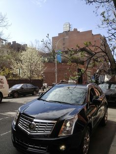 The Cadillac SRX on the streets of New York, ready and waiting for the 2013 #MetGala. #StyleDriven