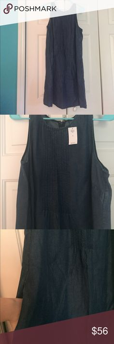 NWT Gap Tencel Chambray Pintuck Swing Dress New with tags! Beautiful Tencel chambray dress from Gap. Zips in the back, and has front pockets! A dress you could easily transition into cooler months, would look GREAT with a cardigan, tights, and boots! 😍 Don't hesitate with questions and/or offers! Happy Poshing!!! GAP Dresses Midi