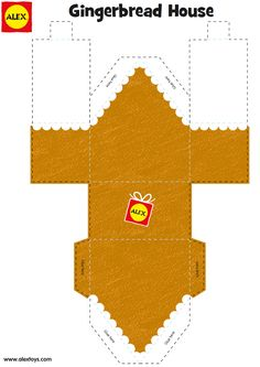 1 of 3--- http://www.alexbrands.com/gingerbread-house-craft-project-free-printable/