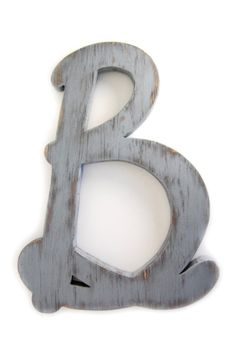 wooden letter B wall sign