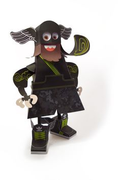 """""""Samoking"""", is a cool paper toy created for Excuse my french.  Design : www.maaowland.fr"""