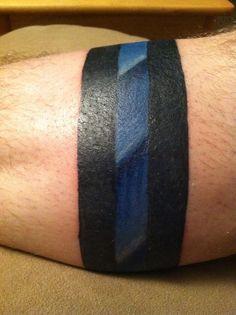 Wrist Solid Line Tattoos | Thin Blue Line Tattoo Ideas Thin blue line tattoo