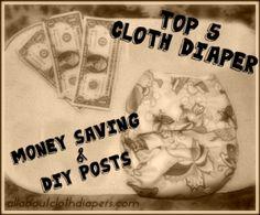 My Top 5 Favorite Cloth Diaper DIY & Money Saving Posts