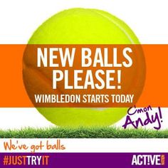 We're making a racket for the start of Wimbledon. Exciting! C'mon Andy Murray!