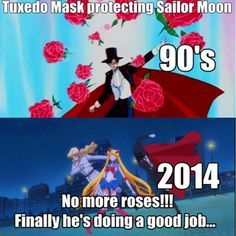 And that's the reason why I love Tuxedo mask in Manga and crystal more than the Sailor Moon Funny, Sailor Moon Manga, Sailor Moon Art, Sailor Moon Crystal, Sailor Moon Quotes, Sailor Moom, Sailor Moon Aesthetic, Tuxedo Mask, Sailor Moon Character