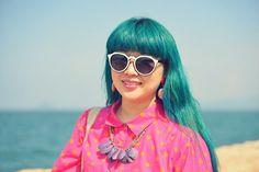 Kanaho's Show: TRENDY WOMENS DESIGNER BLOCK CUT PATTERN SUNGLASSES 9156
