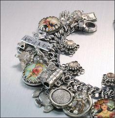 Gypsy Charm Bracelet Silver Charm Bracelet by BlackberryDesigns, $87.00