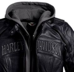 Discontinued Harley-Davidson Clothing | Ladies Harley-Davidson Reflective Skull 3-in-1 Leather Jacket 98152 ...