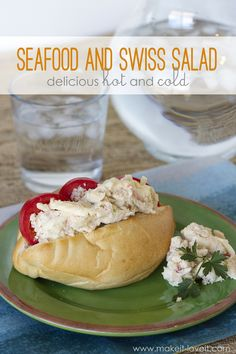 Seafood and Swiss Salad (delicious HOT or COLD!) --- Make It and Love It (in the KITCHEN!)