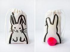 Printable Iron-on Bunny Bags