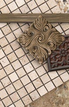 Emser Tile 1x 12 bar liner dark Renaissance Assisi Liners
