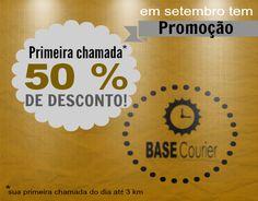 Participe da promoção de setembro da BASE Courier!