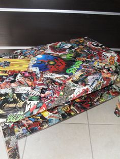 Comic Collage Coffee Table