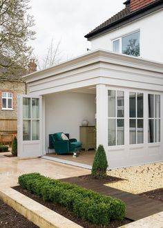 Home - Renovated extension with bespoke timber bifold doors, windows and joinery - Garden Room, Diy Renovation, House Design, Door Design, House, Garden Room Extensions, Cottage Exterior, Bifold Doors, Diy Kitchen Renovation