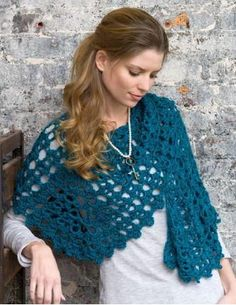 Beautiful as can be, this AMAZING crochet shawl can be worn with just about anything in your wardrobe!