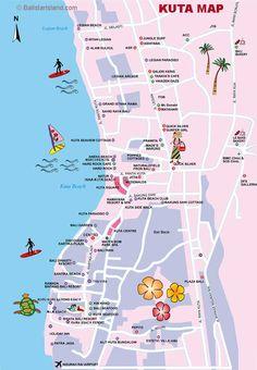 Kuta Map, Bali Map Information, Travel Guides