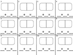 Dominoes Math Template Recording Sheets on Pinterest Word Problems ...