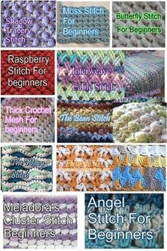 Learn 21 Stitches with these Crochet Stitch Tutorials