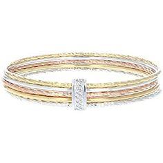 "Round Cut Diamond Tennis Bracelet en 14k or Blanc 7/"" Femmes Filles braslet or"