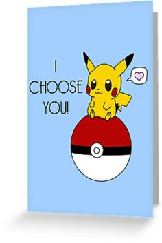 Pokemon Pikachu Valentine's Day Design! (Blue) by charsheee on Redbubble