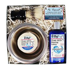 O My! Unscented Goat Milk Starter Shaving Kit