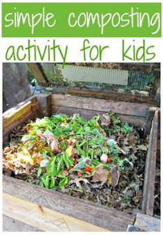 Composting activity for kids to teach them the importance of being green.