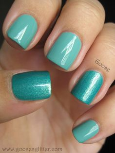 I love this Zoya color combo -  Wednesday (got it!) and Zuza