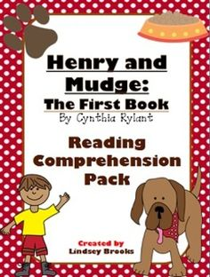 Henry & Mudge - The Book Reading Comprehension Pack - Perfect for guided reading groups that are beginning chapter books! Discussion prompts and written responses for pre-reading and all 7 chapters! Fluency Activities, Reading Comprehension Activities, Reading Strategies, Teaching Reading, Guided Reading Levels, Common Core Reading, Reading Stations, 2nd Grade Reading, Book Study