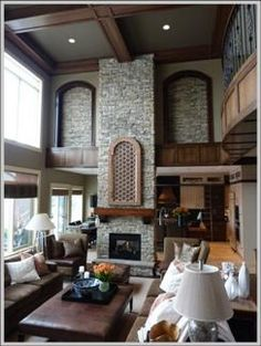Living Room With Fireplace In Middle medieval-style fortress in the middle of nyc wants $7m | metal
