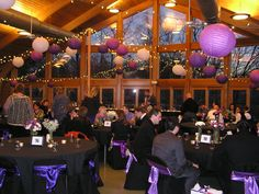 Quail Ridge Lodge! Hanging lanterns and lights! (Only do them in white)