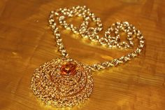 PANETTA Massive Vintage AMBER Textured by MyJewelsBoutique on Etsy