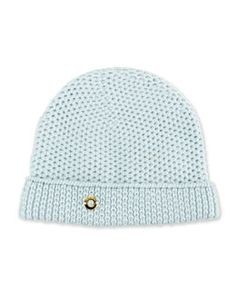 W07FF Loro Piana Rougement Chain-Knit Cashmere Beanie Hat