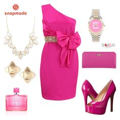 """""""Snapemade 9"""" by sabypolivore ❤ liked on Polyvore featuring Notte by Marchesa, Jessica Simpson, Zodaca, Charlotte Russe, Valentino and Victoria's Secret PINK"""