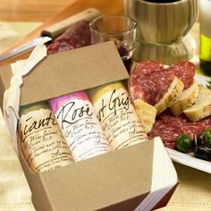 Volpi Wine Salame Trio (Pinot Grigio, Chianti and Rose Salame) - Gift Pack: Amazon.com: Grocery & Gourmet Food