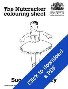 Nutcracker colouring sheet - The Sugar Plum Fairy