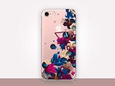Transparent Floral Phone Case Transparent Case Clear by CRCases