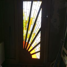 Classic Art Deco sunburst made for a new front door in Norwich