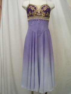 """This wonderful stage knee-length chiffon light purple dress is created by a famous Japanese ballet designer. It has been created for the role of Medora in """"Le Corsaire"""". It could also be used for the"""