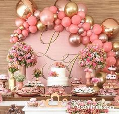 quinceanera decorations Check these guys out Quinceanera Decorations, Quinceanera Party, Wedding Decorations, Girl Birthday Decorations, Baby Shower Decorations For Boys, 15th Birthday, Birthday Parties, Gold Bridal Showers, Balloon Columns