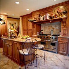 Küche im Landhausstil gestalten holz küchenrückwand