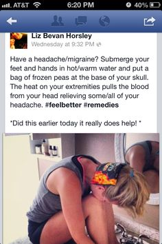 Migraine remedy - good to know when nothing seems to help
