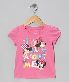 Take a look at this Pink 'It's All About Me' Minnie Tee - Infant & Toddler by Minnie's Bow-Tique on #zulily today!
