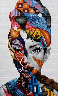 Tristan Eaton - Audrey of Mulberry (NYC) – This piece was painted in August or 2013, for The Little Italy Street Project and The Little Italy Merchants Association.