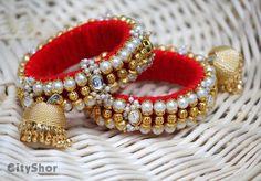 Silk Thread Bangles Design, Silk Bangles, Thread Jewellery, Beaded Jewelry, Handmade Jewelry, Kids Jewelry, Jewelry Crafts, Women Jewelry, Fashion Jewelry
