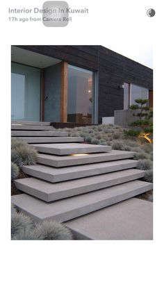 Love the minimalist stairs with the lighting in between steps! - Shelly