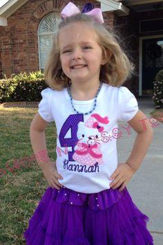 Hello Kitty PrincessBirthday First Birthday by SweetNSassyTots, $26.00