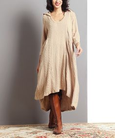 Love this Taupe Elda Linen Dress by Couleur Lin on #zulily ...